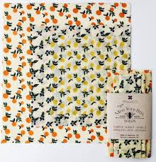 Vintage Fruit Beeswax Wrap 3 Pack