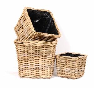 Planter Baskets Square (set of 3)